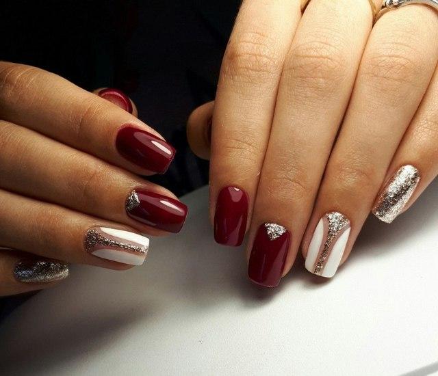 Черно-красный дизайн ногтей фото 2020 новые варианты