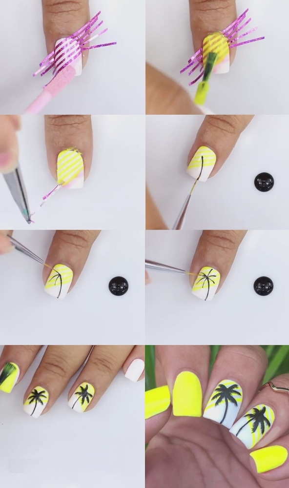 Пальмы на ногтях фото 2020 модные новинки дизайна