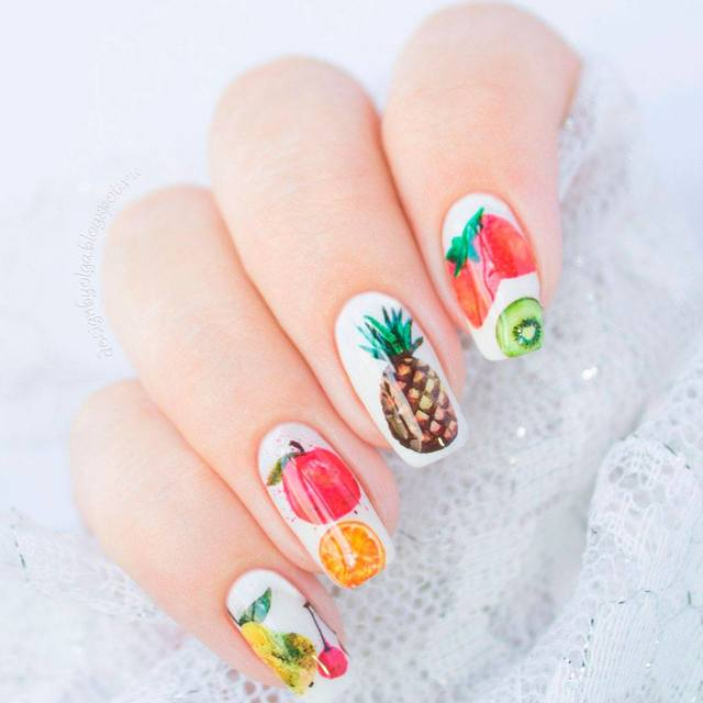 Фрукты и ягоды на ногтях фото 2020 идеи дизайна