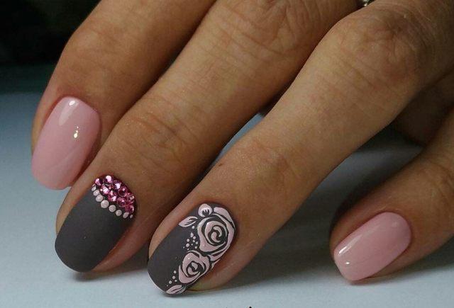 Дизайн ногтей с розами 2020 фото варианты