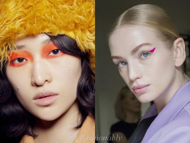 Стрелки на глазах 2020, модные тенденции, новинки, 46 фото