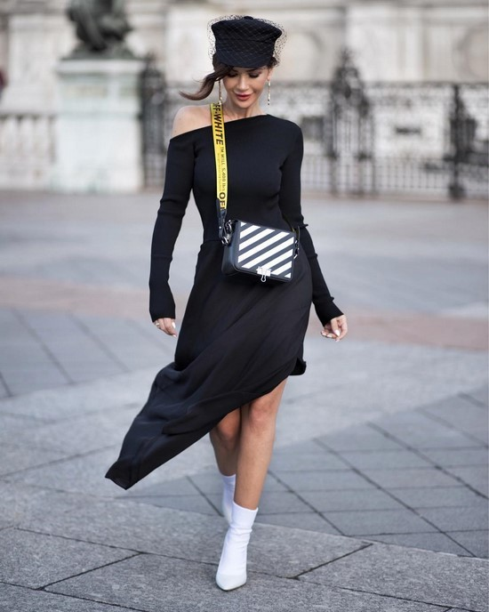 Модные вязаные и трикотажные платья на осень-зиму 2019 фото