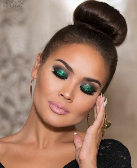 Модный макияж для карих глаз 2020 тенденции 52 фото