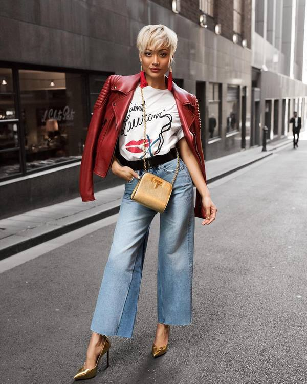 c чем носить рваные джинсы 2020 фото модные образы луки