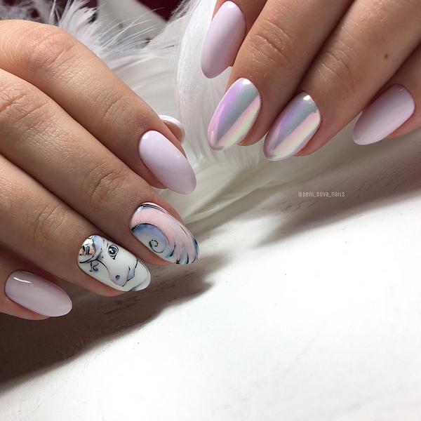 Жемчужный маникюр фото 2020 модный дизайн ногтей