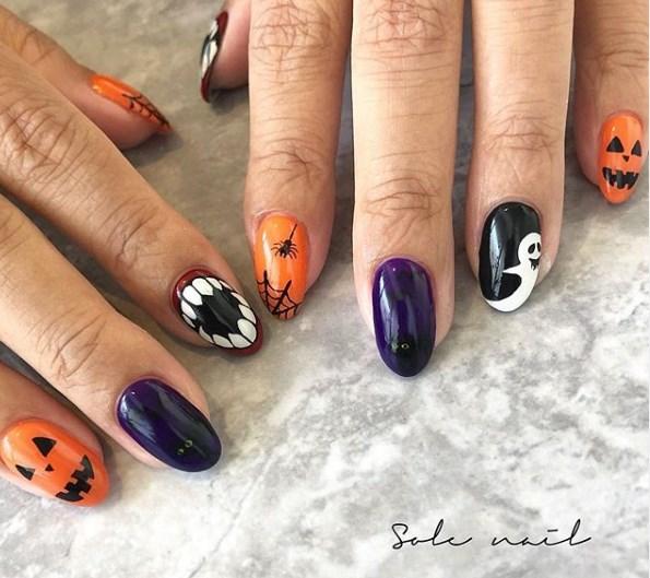 Модный маникюр на хеллоуин 2020 фото новинки стильные идеи