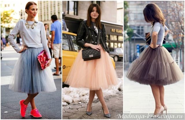 c чем носить юбку туту 2020 фото модные образы луки