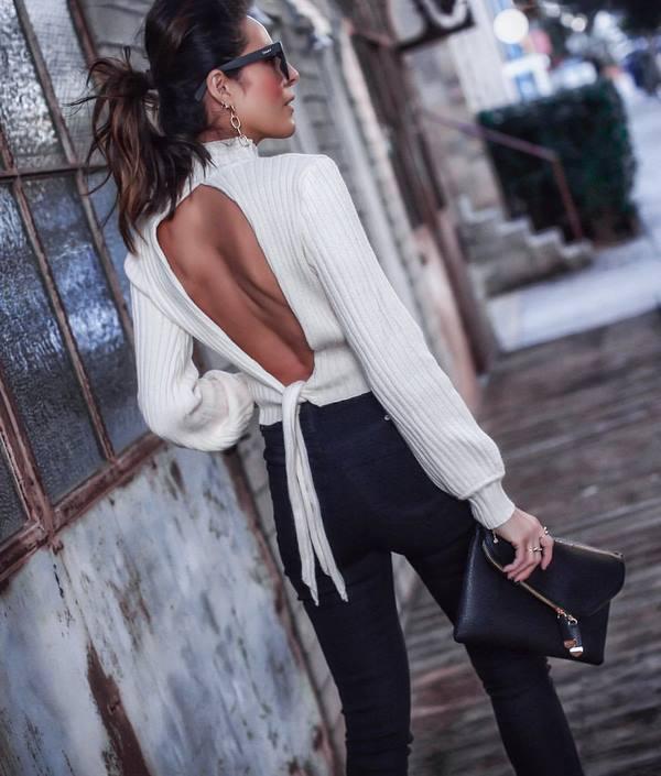 Женские свитера 2020: стильные фасоны, цвета, фото тенденции