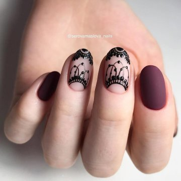 Темный маникюр на коротких ногтях 2020 фото 78 модных идей