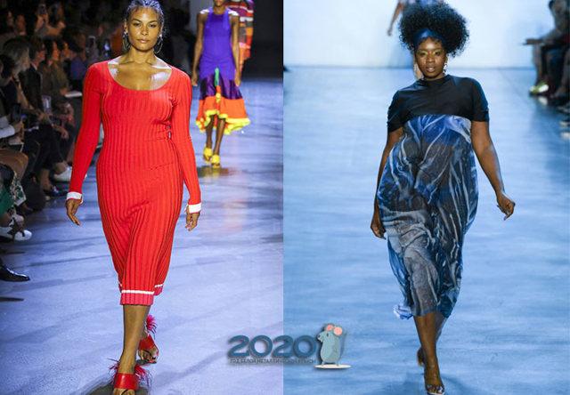 Мода для полных осень-зима 2019-2020 фото новинки