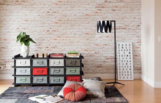 Декоративные обои под кирпич 2020: виды, фото, лучший дизайн
