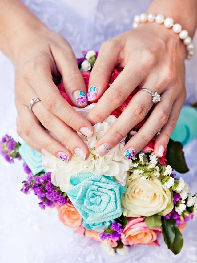 Свадебный маникюр 2020 фото модные новинки