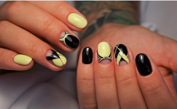 Геометрический дизайн ногтей фото 2020 модные идеи