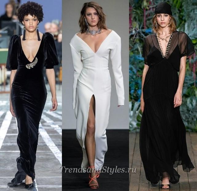 С чем носить топы и платья с открытыми плечами 2020 фото