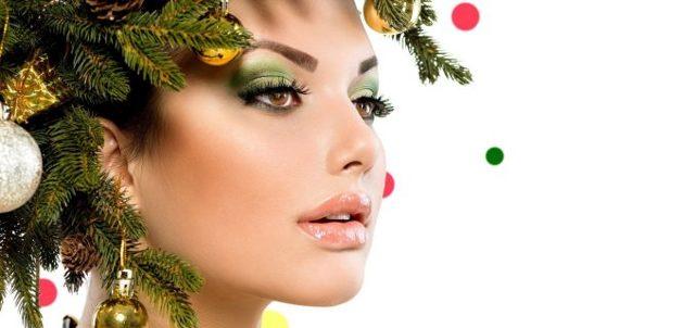 Самый красивый новогодний макияж 2020 фото блестящие идеи