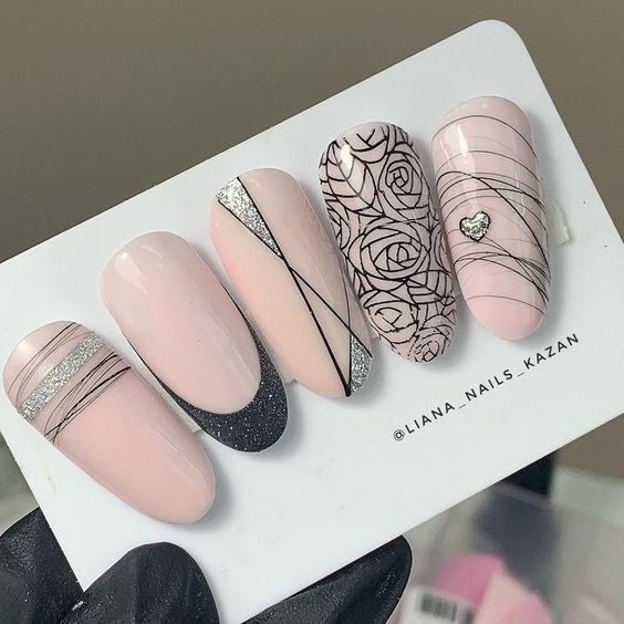 Мега модный маникюр гель-лаком на короткие ногти 2020 фото