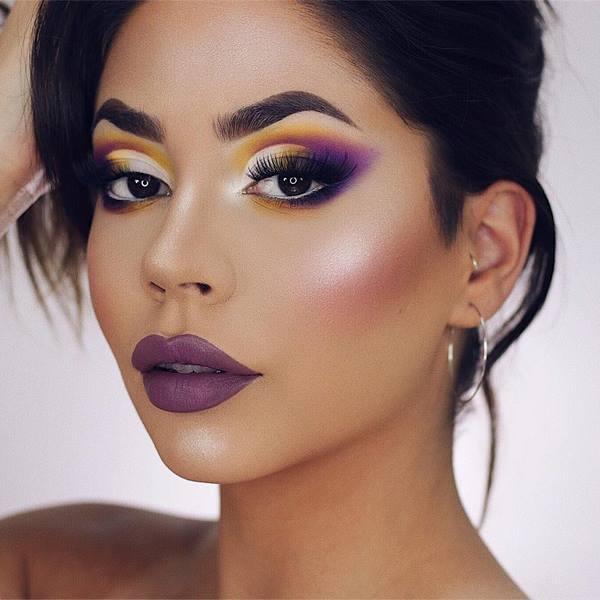 Макияж с фиолетовыми тенями 2020 фото стильные идеи новинки