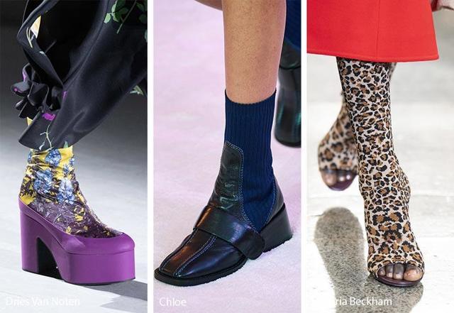 Модная женская обувь на каблуке осень-зима 2019-2020 фото 57