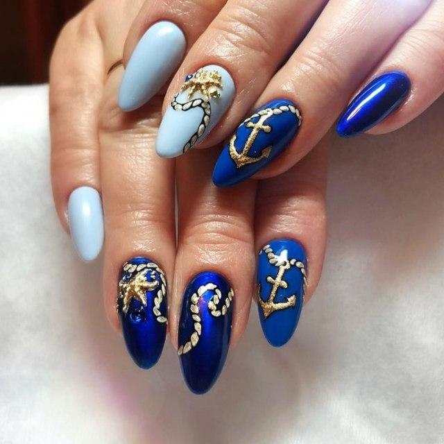 Дизайн ногтей на море 2020 модные новинки 130 фото
