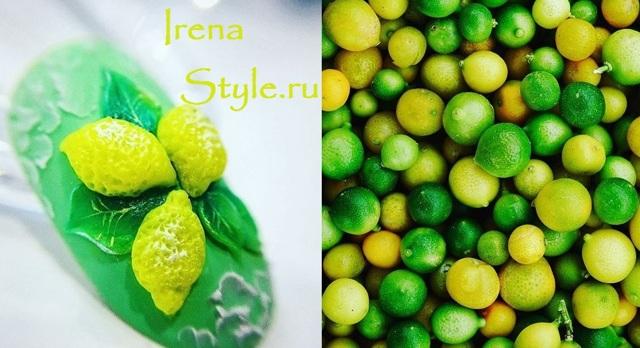 Сочный маникюр с лимонами 2020 фото модный дизайн