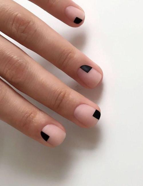 Простой маникюр весна-лето 2019 красивый минимализм 108 ФОТО
