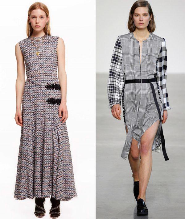 Принт клетка в женской одежде 2019 фото модных тенденций