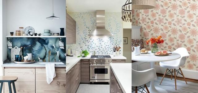 Какие обои поклеить в маленькой кухне: фото-идеи 2019-2020