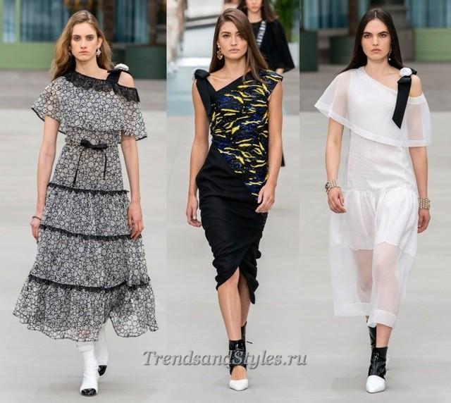 Яркие желтые платья 2020 модные тенденции фото новинки