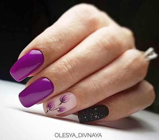 Фиолетовый маникюр 2020 модные тенденции идеи новинки фото