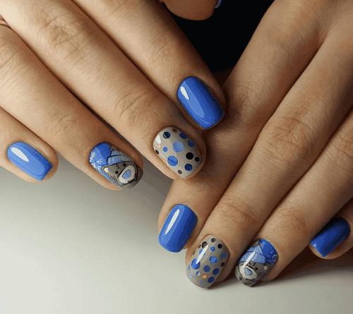 Голубой маникюр 2020 модные тенденции новинки 58 фото